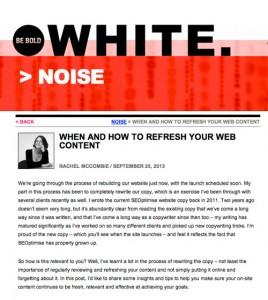 refresh site content