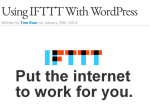 IFTTT with WordPress