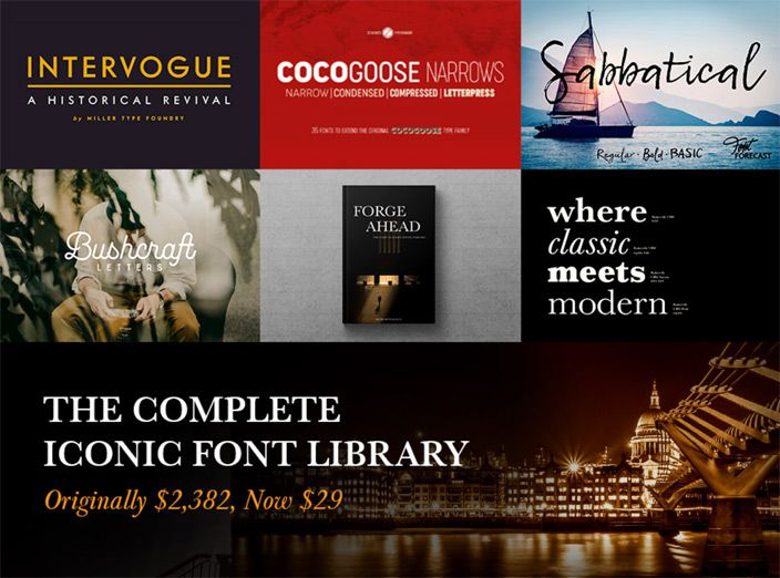 Design Cuts Iconic Font Bundle